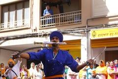 Indian Sikh fighting arts Stock Photo