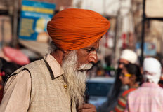 Indian Sikh man on the street in Amritsar. India Stock Photo