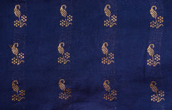 Indian silk fabric detail Stock Images
