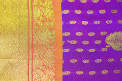 Indian Silk Saree Stock Photography