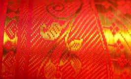 Indian Silk Sari Stock Photo