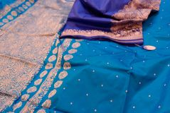 Indian silks royalty free stock photo