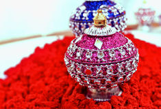 Indian sinddor and jewel box Royalty Free Stock Image