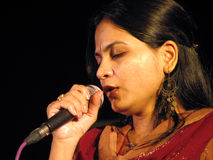 Indian Singer Stock Photography