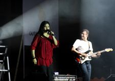 Indian singer Sunidhi Chauhan performs at Bahrain Royalty Free Stock Photo