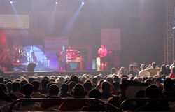Indian singer Sunidhi Chauhan performs at Bahrain Stock Photography
