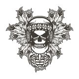 Indian skull chief Royalty Free Stock Images