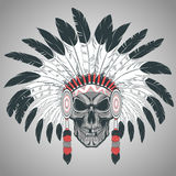 Indian skull chief royalty free illustration