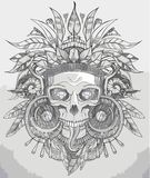 Indian skull vector illustration Royalty Free Stock Photos