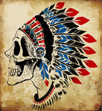Indian skull vector illustration Royalty Free Stock Photo