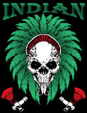 Indian skull vector illustration Royalty Free Stock Photography