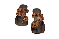 Indian slippers Royalty Free Stock Photos