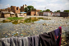 Indian Slum stock photography