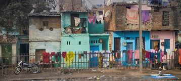 Indian slums and areas inhabited by poor Stock Images