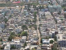 Indian small city top view looking very good. stock photography