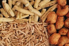 Indian snack background Stock Photo