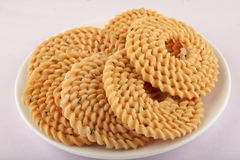 Indian snack - chakali,. Traditional Indian sweet all time snack - chakali stock image