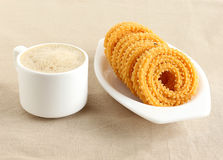 Indian Snack Chakli. Chakli, also known as murukku, which is a south Indian traditional, popular and vegetarian snack, is made from deep-frying portions of Royalty Free Stock Image