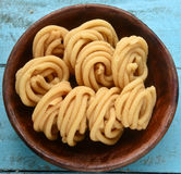 Indian snack-Chakli. Chakli/murukku is an indian snack prepared from rice and butter Stock Photo