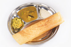 Indian snack Masala Dosa Royalty Free Stock Images
