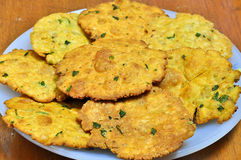 Indian snack-Mathri. Is a Rajasthani snack. It is a kind of flaky biscuits from north-west region of India Royalty Free Stock Images