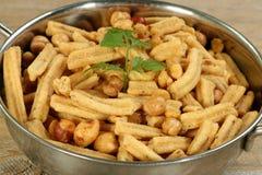 Indian snack mix. Indian asian food gathia mix snack Royalty Free Stock Photos