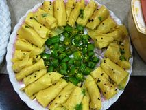 Indian snack dhokla royalty free stock photo