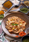 Indian snack papri chaat Royalty Free Stock Photos