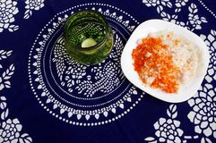 Indian snack, putu mayam Royalty Free Stock Image