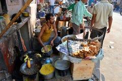 Indian Snack on Street, Jaipur Royalty Free Stock Photo