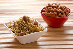 Indian Snack in white bowl. Royalty Free Stock Photography