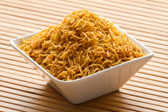 Indian Snack in white bowl. Royalty Free Stock Image