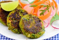 Indian snacks- Matar ke kebab stock image