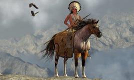 Indian Soaring Eagle Stock Photos