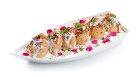 Indian Cuisine Dahi Vada royalty free stock photography