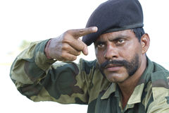 Indian Soldier Royalty Free Stock Photography
