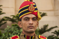 Indian soldier in uniform Stock Image