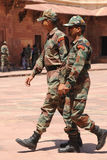 Indian soldiers in camouflage uniforms. Uttar Pradesh, India. royalty free stock photo