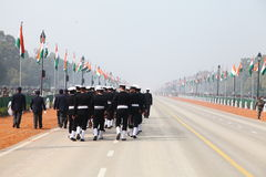 Indian Soldiers on the occasion of republic day Parade2014 in New Delhi, India. Republic day Parade is celebrated on 26th of January of every year in India. This Stock Images