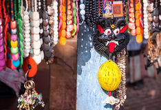 Indian souvenirs at market Stock Photo
