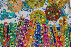 Indian Souvenirs pens and boxes of wood and beads Royalty Free Stock Images