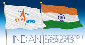 Indian Space Research Organisation flag, India. Vector file, illustration royalty free illustration