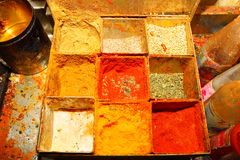 Indian spice box Stock Photo