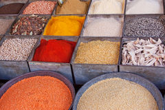 Indian Spice Market Royalty Free Stock Photos
