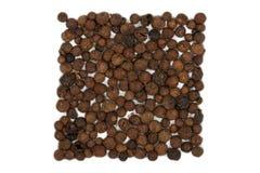 Indian spice pimento. Isolated on white background Stock Image