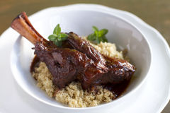 Braised Lamb Shank Stock Image