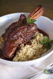 Braised Lamb Shank Royalty Free Stock Photography