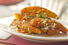 Indian Spiced Potato Wedges Royalty Free Stock Image