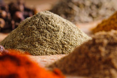 Indian spices. Close up of pile of indian spices Stock Image