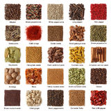 Indian Spices Collection Stock Photos